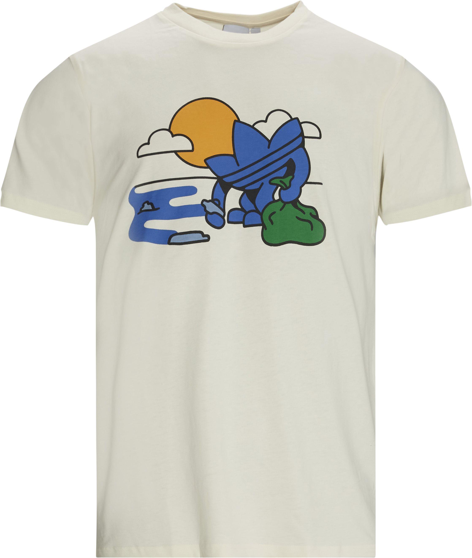 TREFFY RECYCLES t-shirt - T-shirts - Regular fit - Hvid